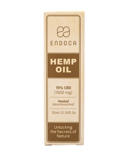 endoca cbd oil bottle label
