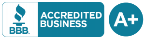 Better Business Bureau logo - A+ Rating